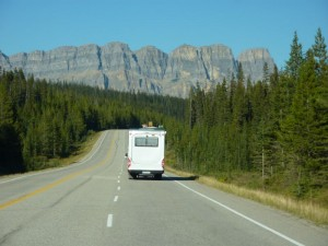 On the way to Banff