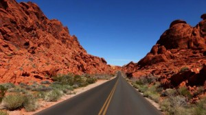 Weg zum Valley of Fire State Park
