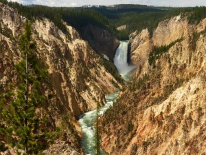 Yellowstone Lower Falls.South Rim