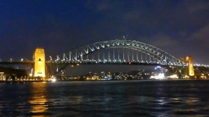 Harbour Bridge bei Nacht